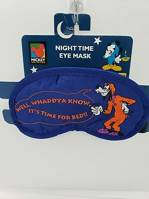 Embroidered Disney Sleep Eye Mask blue unlimited vintage Goofy
