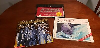 Star Wars Original Blueprint Set-15 Sheets, JEDI Sketchbook, Trilogy Scrapbook
