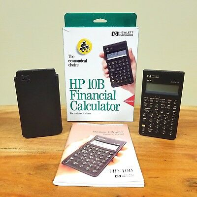 HP 10B Business Financial Scientific Calculator Hewlett Packard 1987 Vintage