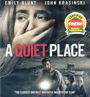 A Quiet Place 2018 PG-13 sci-fi horror movie, new Blu-ray + DVD + DC Emily Blunt