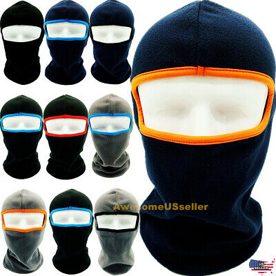 Men Women Winter Warm Hats Cap Fleece Ski Snow Mask Caps Hood Neck Hat Balaclava