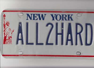NEW YORK - Real Vanity License Plate - 1986–2001: Statue of Liberty