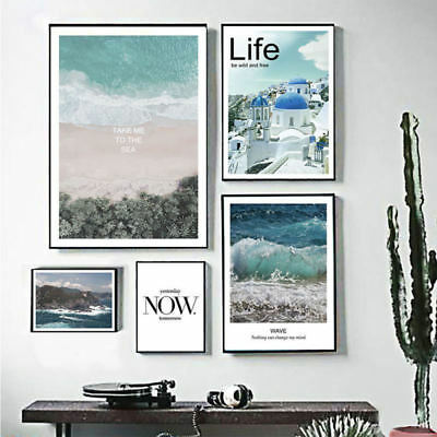 Modern Abstract Art Oil Beach Painting Canvas Print Wall Art Picture Home Decor