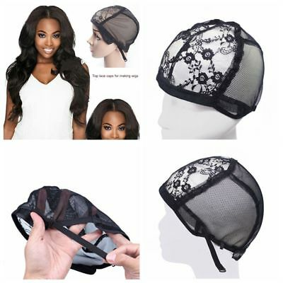 Adjustable Straps Breathable Hair Mesh Weaving Caps Wig Hair Net Lace Snood