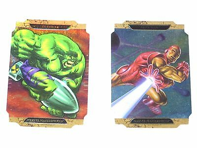 2008 Marvel Masterpieces Series 2 DIE-CUT INSERT CHASE SET! HULK IRON MAN! A!