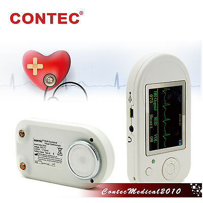 CONTEC Visual electronic stethoscope ECG heart rate SpO2  CMS-VESD +PC SOFTWARE