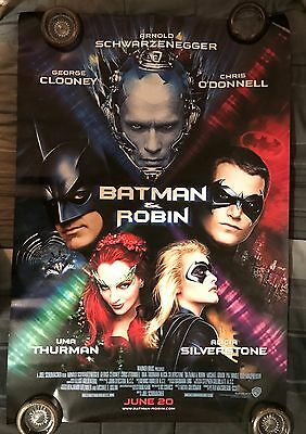 Batman and & Robin Final Movie Poster 27X40 Original 1Sheet I Sided Rolled 1997