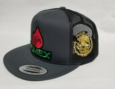 7737b7aa34c PEMEX MEXICO Hat Dark Grey Mesh Trucker Snap Back Adjustable New ...