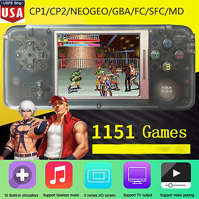 64Bit Retro Video Game Console Handheld Players 32GB 1151 Classic Games Gift USA