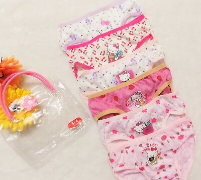 6PC Kids Girls Hello Kitty Cotton Underwear Undies Briefs Panties Bottoms 3-8yr