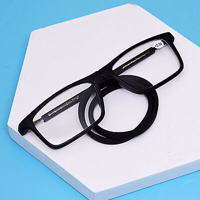 Adjustable Reading Glasses Magnetic Neck Hang Front Connect Readers Folding L001