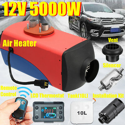 12V 5KW Diesel Air Heater 10L Tank LCD Switch Remote for Truck Car Boat Trailers
