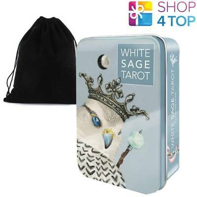 White Sage Tarot Cards Deck By Theresa Hutch  Us Games Systems With Bag New
