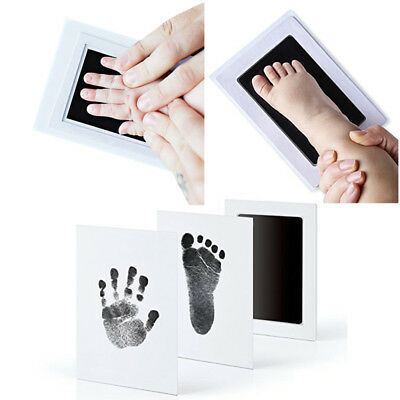 HOT Baby Safe Inkless Touch Footprint Handprint Ink Pad Non Toxic Commemorate