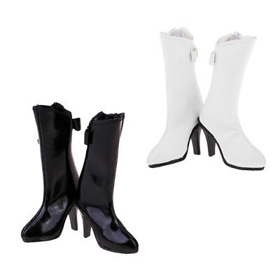 1/6 Scale Leather High Heel Boot for 12inch Phicen Kumik Dolls Female Body