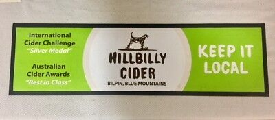 Bar Mat Runner Hillbilly Cider Bilpin Great Colours! Rubber Used Free Postage!