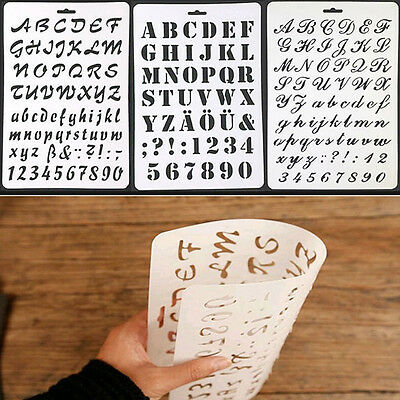 Number Alphabet Paper Cards Letter Layering Stencils Painting Scrapbooking #LN8