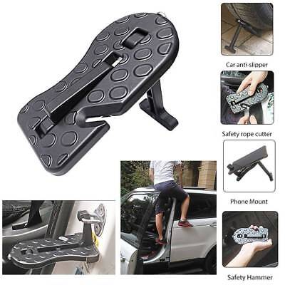Multifunction Car Doorstep Door Latch Hook Folding Step Mini Foot Pedal Ladder