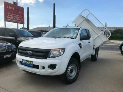 2013 Ford Ranger PX XL White Automatic A Cab Chassis