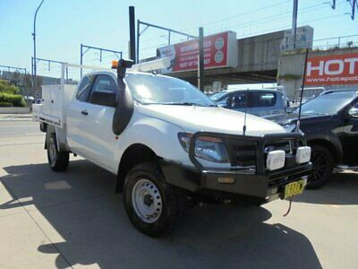 2013 Ford Ranger PX XL White Manual 6sp M Cab Chassis