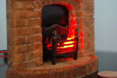 Dollhouse Fireplace 1/18th Scale (two third ) Brick Effect Regency Style