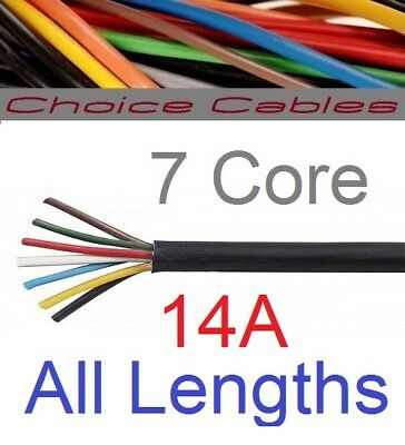 7 Core Automotive Cable 0.75mm 14A Towing Trailer Cable Thinwall 12v 24v 14 Amp