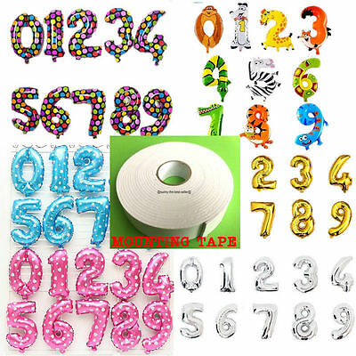 """Gold & Silver16"""" Alphabet Letter Number A-Z Foil Balloons NAME PARTY WEDDING ALL"""