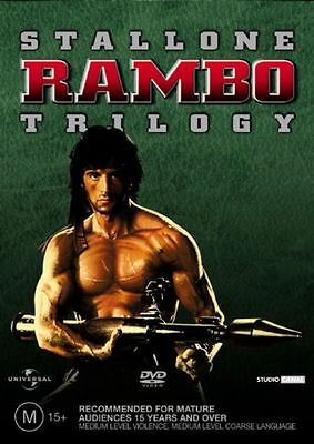 The Rambo Collection TRILOGY STALLONE(DVD 3-Disc Set) 1+2+3 - FREE POST