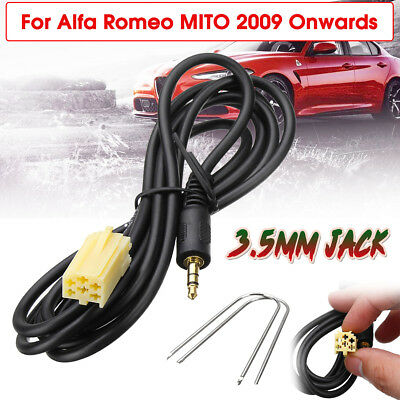 3.5mm Aux In Adapter Jack Cable Ipod Iphone MP3 Lead For Alfa Romeo MITO 2009 On