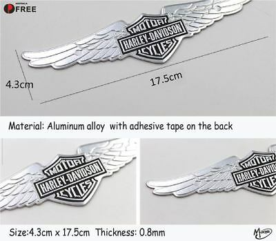 Harley Davidson Wings Motor Sticker Badge Metal Emblem Logo 17.5cm Best Gifts