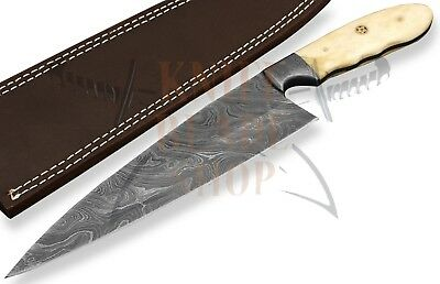 CUSTOM DAMASCUS STEEL BLADE KITCHEN KNIFE/CHEF KNIFE BONE ...