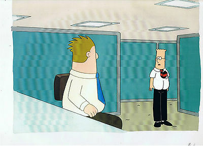 Genuine Hand Painted Dilbert Production  Cel