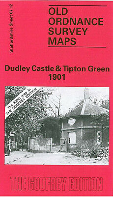 Old Ordnance Survey Map Dudley Castle Tipton Green 1901 Kettles Hill Burnt Tree