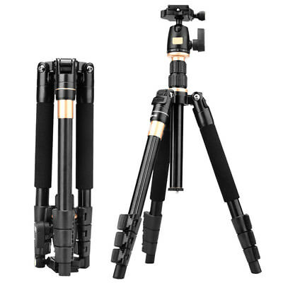 Aluminum Tripods Monopod+BallHead Pocket Travel for Canon Nikon DSLR Camera