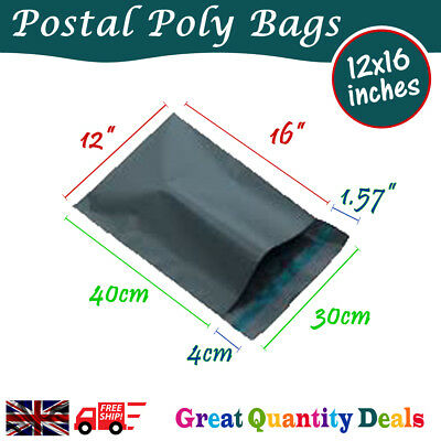 "12x16"" Packaging Plastic Parcel Mailing Postal Bags Packing Envelope Polythene"