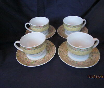 Wedgwood  Florence Home 4 X Tea Cups And Saucers Excellent Condition