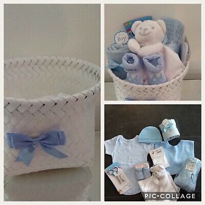 New Born Baby Boys Clothes Bundle Basket Hamper Gift Set Baby Shower
