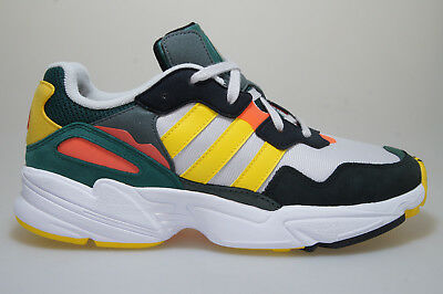 uk availability 2a4ea 8d3e1 Adidas Yung-96 DB2605 Gris   Vert Jaune Baskets Originals Chaussures Homme