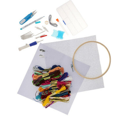 DIY Kreuzstich Stickerei Starter Kit Thread Hoop Floss Handstickerei