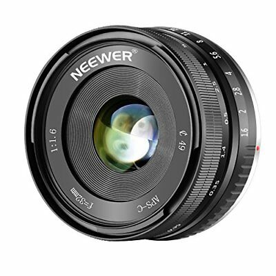 Neewer 32mm F/1.6 Manual Focus Prime Lens Sharp High Aperture for Sony (a0R)