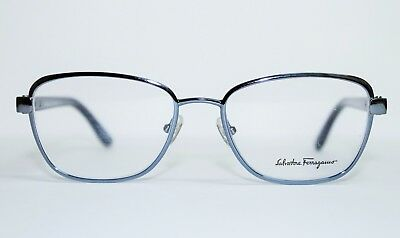 d735e256cc New Salvatore Ferragamo Sf 2144 462 Blue Authentic Eyeglasses Rx 53-17-140  Mm