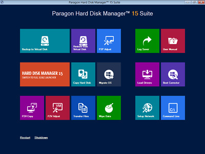 Paragon Hard Disk Manager 15 Partition / Recovery / Migrate to SSD H/D