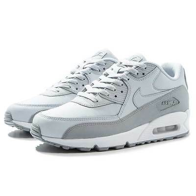 570952e5a80f02 Ltd Ed New Boxed Nike Air Max 90 Essential Leather Trainers Wolf Grey Mens  Uk8