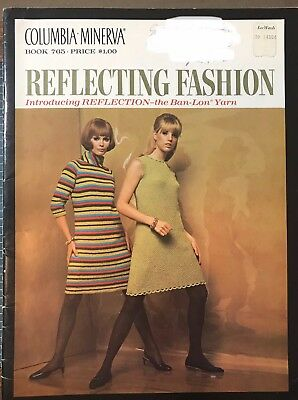 Vintage 1967 Columbia Minerva Reflecting Fashion Book 765 Knitting Patterns