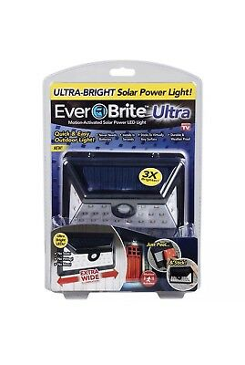 Ever Brite Ultra Motion-Activated Solar Power LED Light As Seen On TV - New
