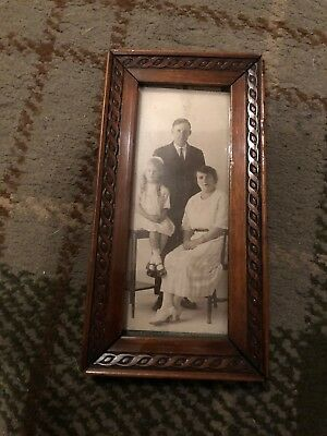 Lovely Antique Small Wooden Photo Frame