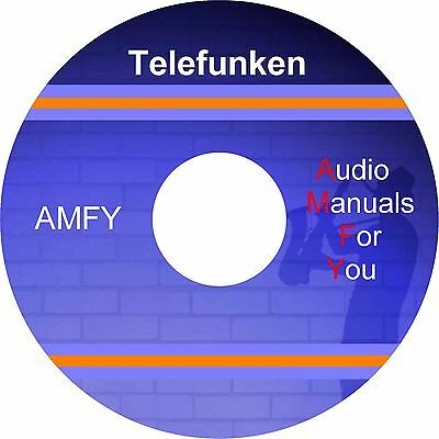 Telefunken audio servicemanuals, ownersmanuals and schematics on 1 dvd