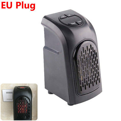 Mini Furnace Portable Plug-in Electric Wall-outlet Space Heater 400W 220-240V