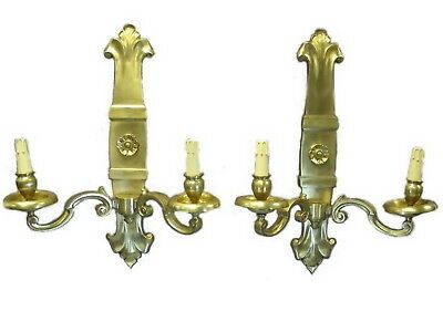 French huge Pair of Bronze Wall Scones # 8966
