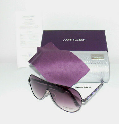 3dfd02e48248 NEW JUDITH LEIBER Sunglasses Handmade in Japan JL1653 00 Aviator Titanium   549